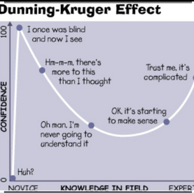 Oh No! Dunning Kruger effect bringing down team motivation.