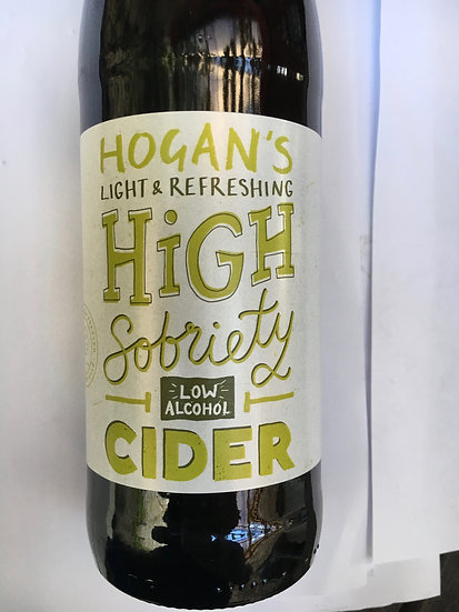 Hogan's High Sobriety Cider 1% 500ml x 12