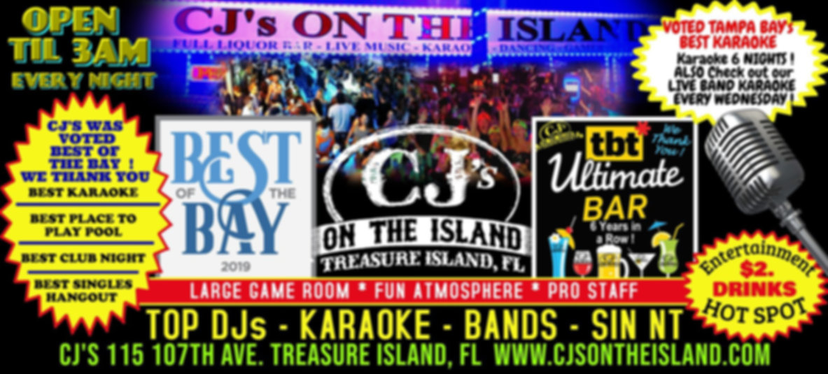 CJ's On The Island, Treasure Island, FL Hot Spot