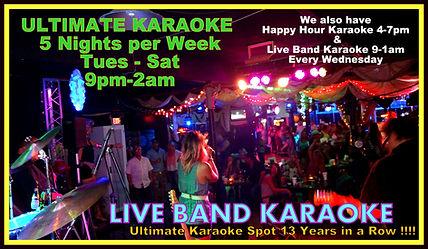 CJ's Karaoke 5 Nights per week