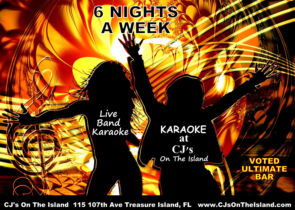 Best Karaoke CJ's On The Island Treasure Island, FL