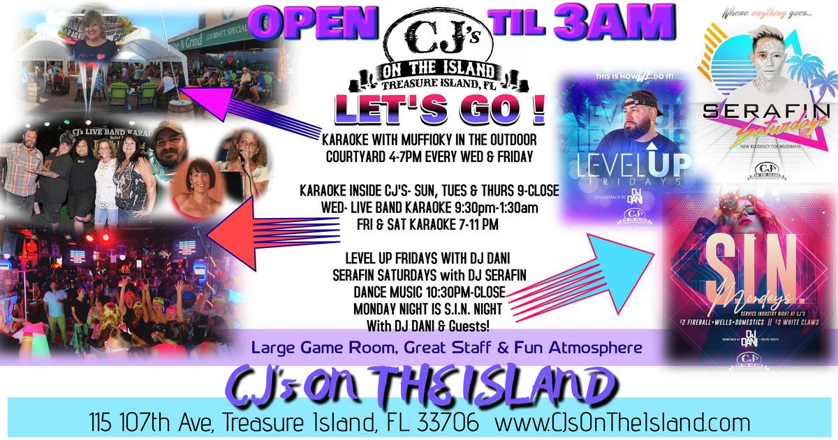 CJ's On The Island, Treasure Island, FL