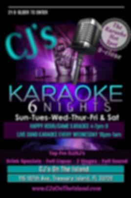 Sindustry Nt, Karaoke, Live Band Karaoke, Bands at CJ's On The Island