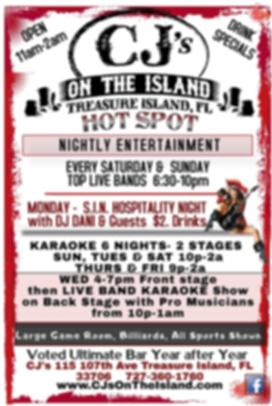 CJ's On The Island Bands and Events