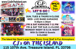 CJ's On The Island Treasure Island, FL Karaoke Bands DJ Dancing