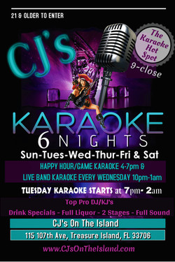 Karaoke at CJ's 6 Nights