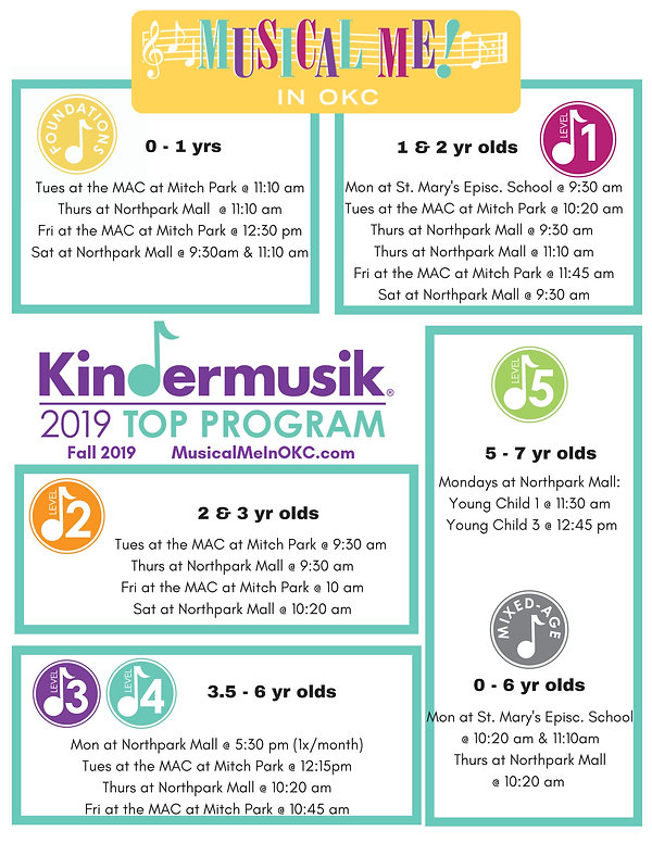 Fall Kindermusik 2019 Updated Schedule.j