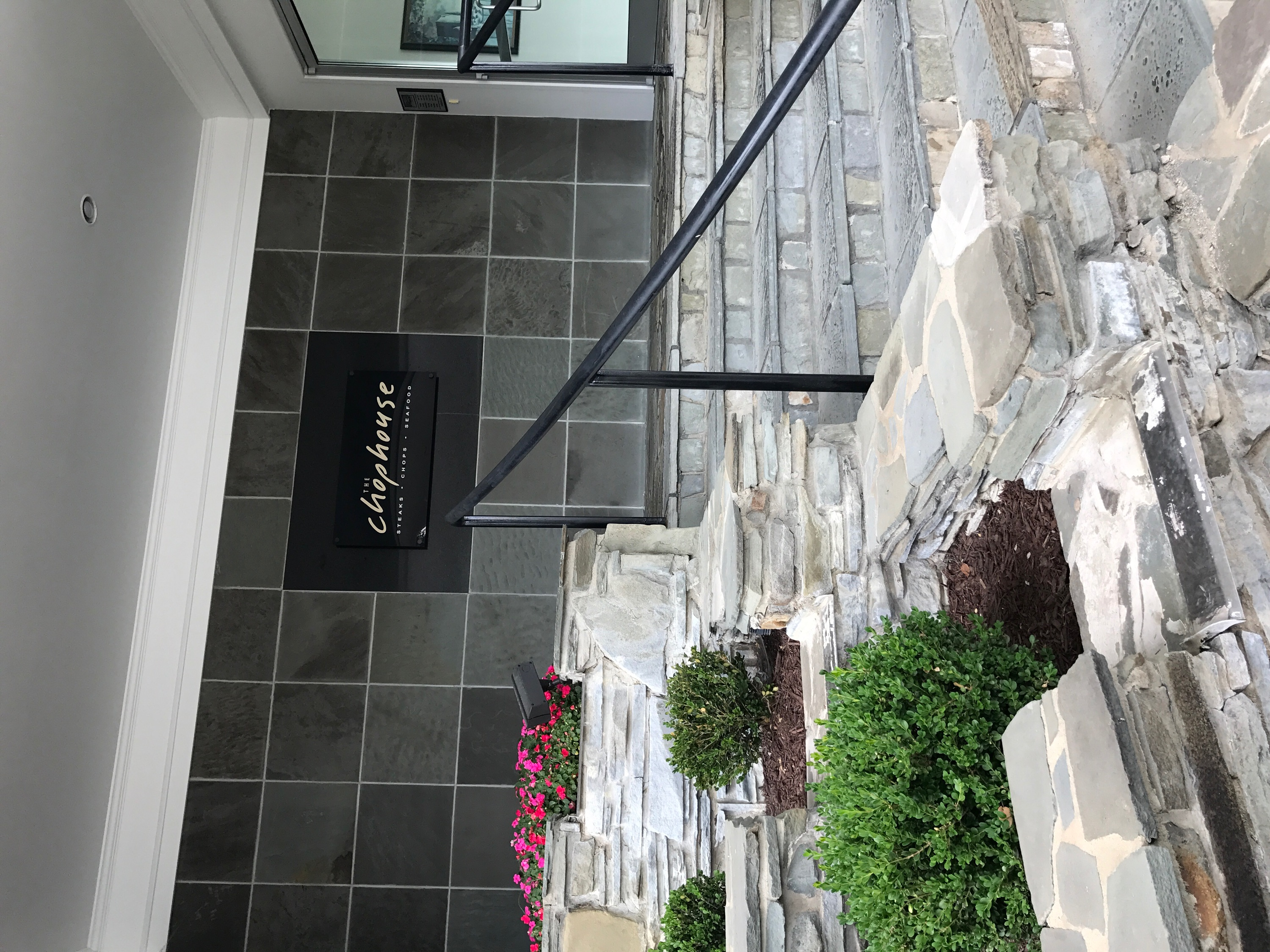 ChopHouse Entrance with Flowers