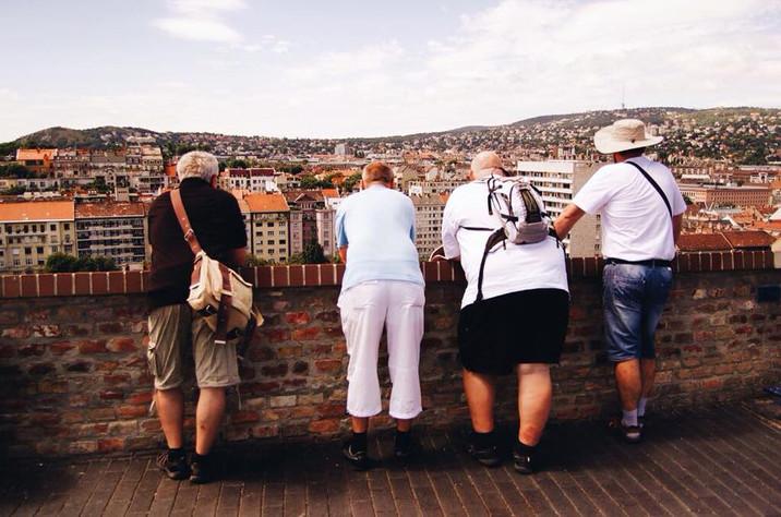 Vier mannen in Budapest, Hongarije