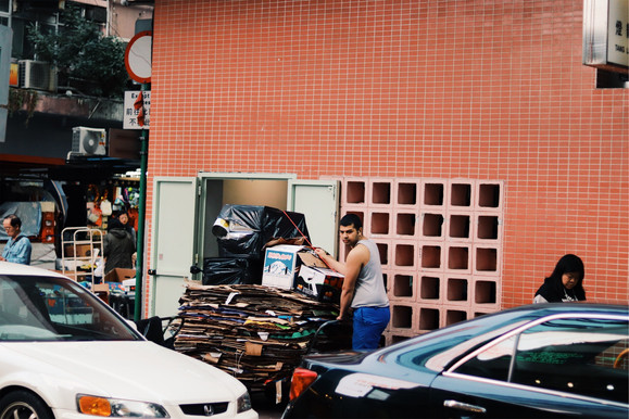 Arbeider op straat