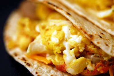 Sausage, Egg, Cheese Tacos