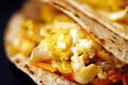 Sausage, Egg, Cheese Tacos