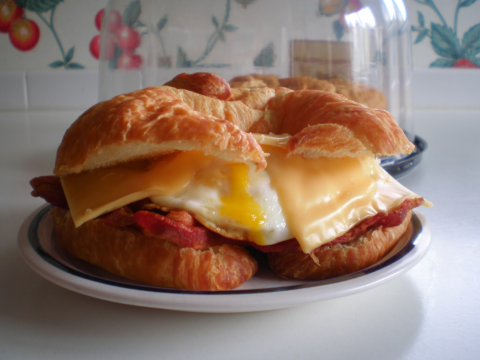 Famous Bacon, Egg, Cheese Croissant