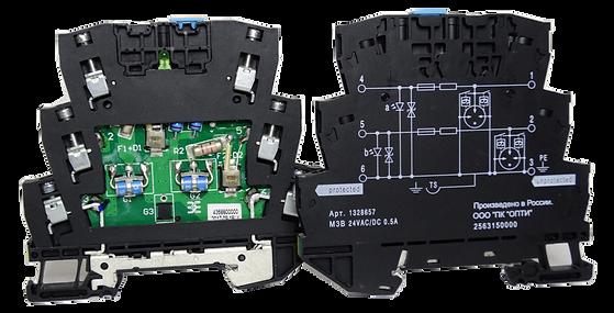 Устройства защиты  электрических цепей от перенапряжений (УЗИП)  на DIN-рейку