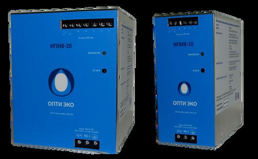 Источники питания 220V AC/12V/24V DC  импульсные виброустойчивые ИПИВ - ОПТИ ЭКО