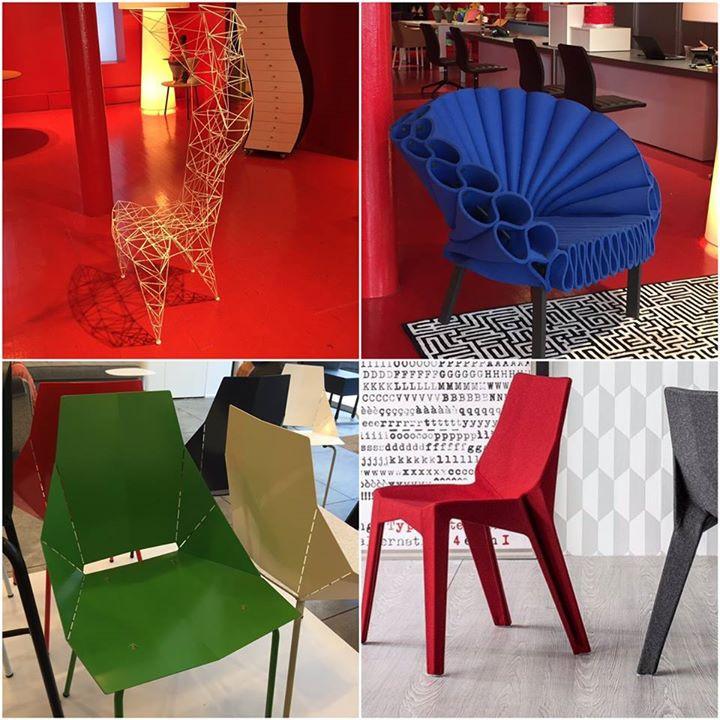 Origami Chairs: Tom Dixson for Cappellini, Dror Benshetrit for Cappellini, BluDot - Soho NYC, Karim Rashid for Bonaldo