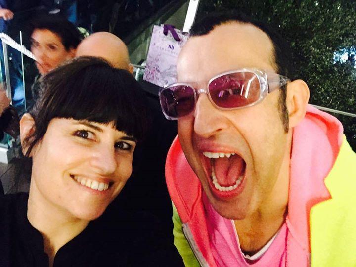 קארים ראשיד ואני בשבוע העיצוב במילאנו, אפריל 2015