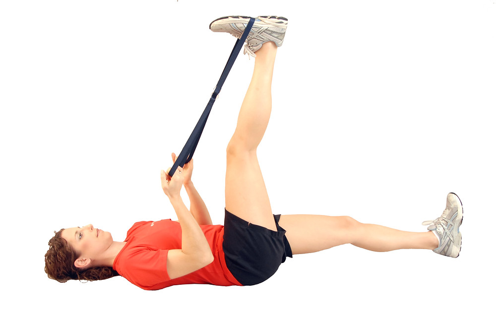 Hamstring PNF Stretch with a Strap
