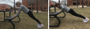 Incline Pushups on a Park Table