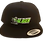 "Thumbnail: ""STUNT and DESTROY"" BLK / green bottom HAT SNAP BACK"
