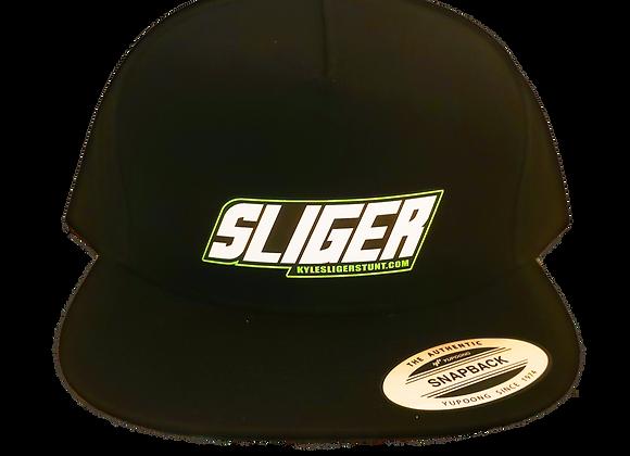 """SLIGER  """"green OG""""  BLK/green bottom HAT SNAP BACK"""