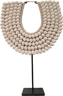NATURAL LARGE SHELL U NECKLACE ACS004 38