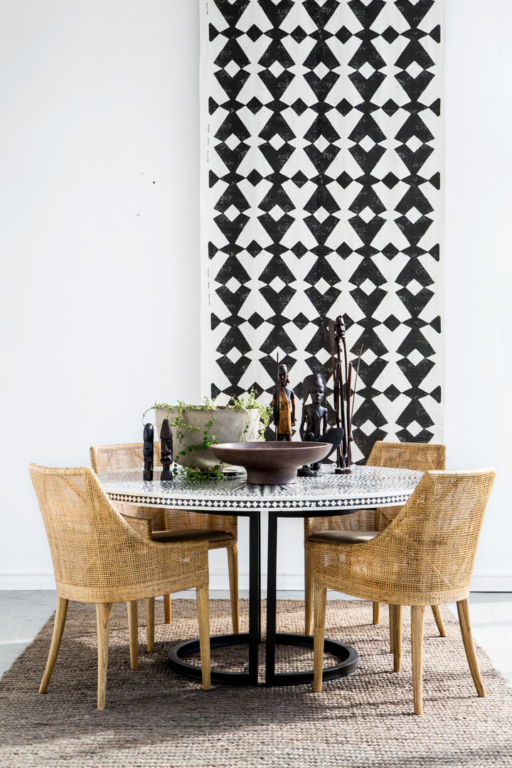 Wing Chairs & Inlay Table