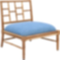 TEAK LIAM LOUNGE CHAIR - RCH003 74w 64d