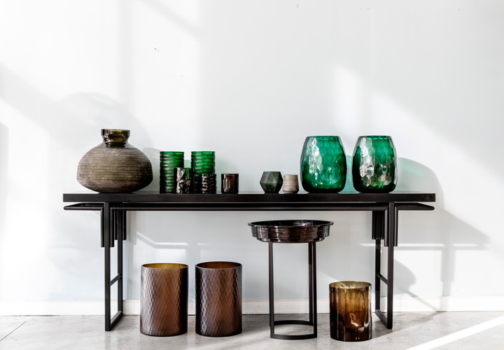 Hand Cut Glass Vases & Votives