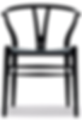 BLACK V BACK WOVEN DINING CHAIR BCH001.p