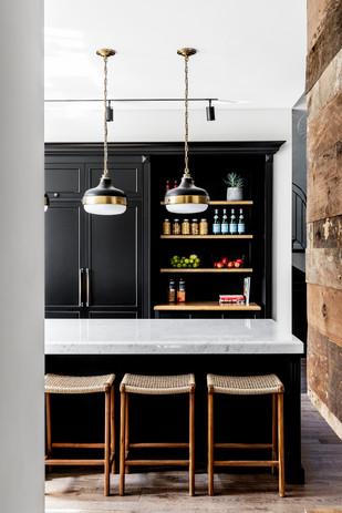 Teak Barstools Interior Design - Nirit Frenkel