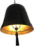 BLACK & GOLD BAMBOO BELL LIGHT FIXTURE -