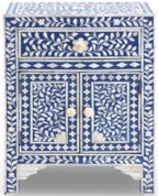 IINLAY BLUE SIDE TABLE - CUSTOME ORDER.j