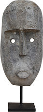 TIMOR CARVED FACE LARGE ACS016 30w 100h.