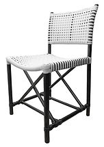 BLACK & WHITE WOVEN DINING CHAIR BCH005.