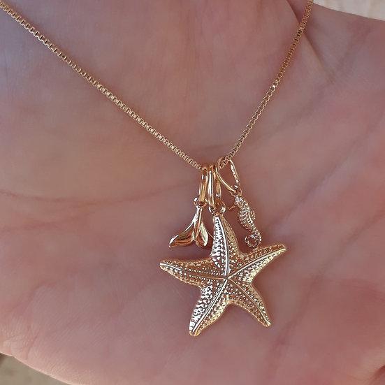 Patuá Estrela Mar Banho de Ouro