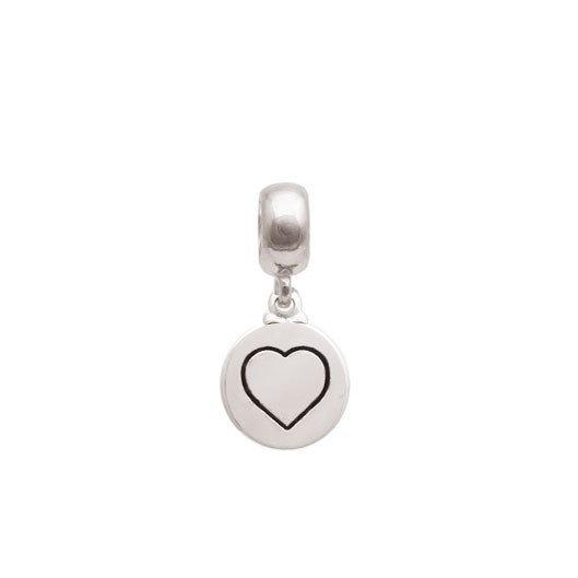 Berloque coração com resina Prata 925