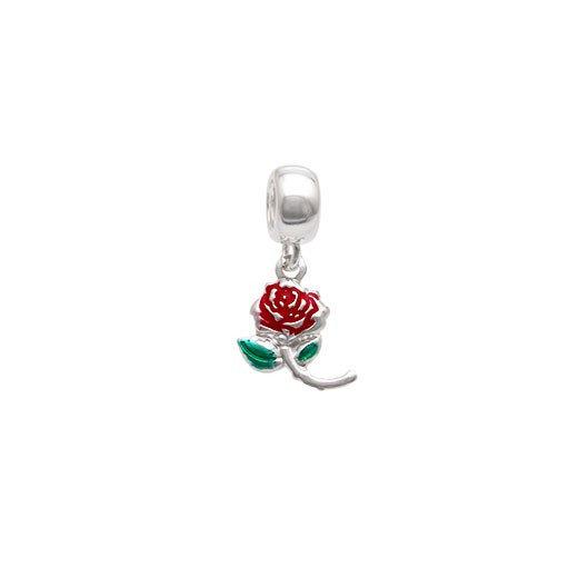 Berloque Rosa Prata 925