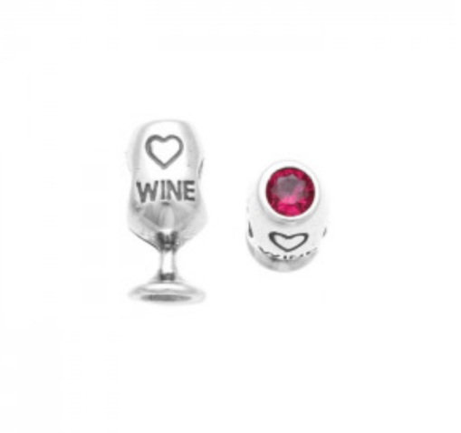 Berloque Taça Wine Prata 925