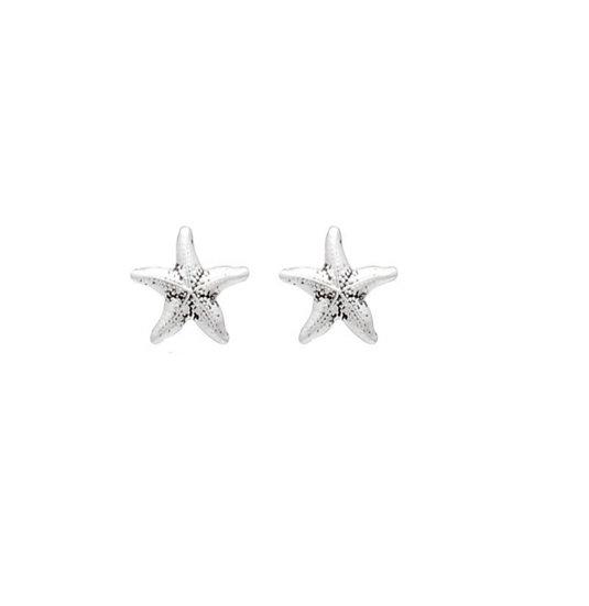 Brinco Estrela Mar envelhecida Prata 925