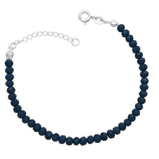 Pulseira Cristais Azul Prata 925