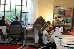 students  in Learn2sew Classes