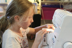 Learn2sew  Junior student  in class