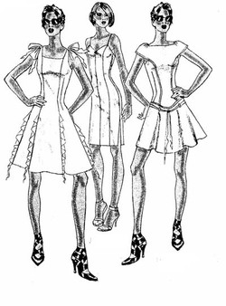 SKETCHES FOR DRESSES