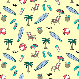 Drawing of a Various Beach Items.png
