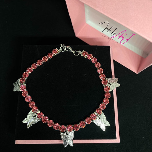 Princess Pink Butterfly Anklet