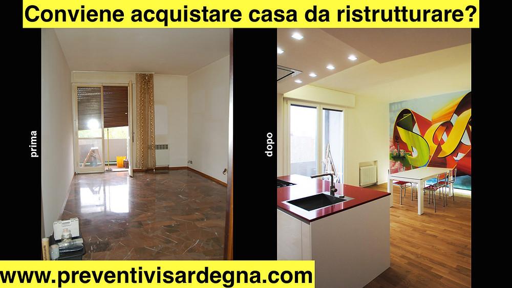 Casa prima e dopo