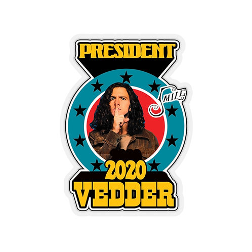 Vedder for President Stickers