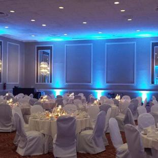 Dining  Uplighting Blue