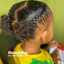 Kah's daughter's curls